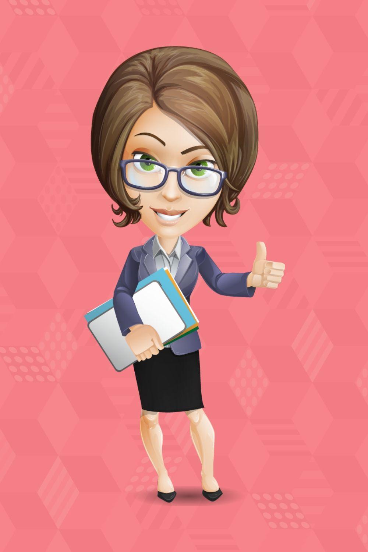 Female Teacher Cartoon Vector Character   GraphicMama   Teacher cartoon, Cartoons  vector, Vector character