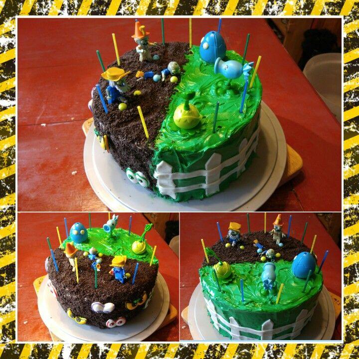 Plants Vs Zombies Birthday Cake Diy Zombie Birthday Cakes