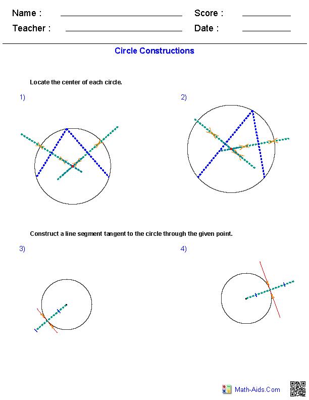 4th Grade line segment worksheets 4th grade : Circle Construction Worksheets | Math Worksheets | Pinterest ...