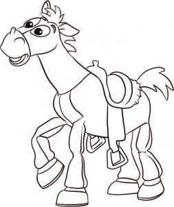 How To Draw Bullseye By Dawn Toy Story Coloring Pages Toy Story