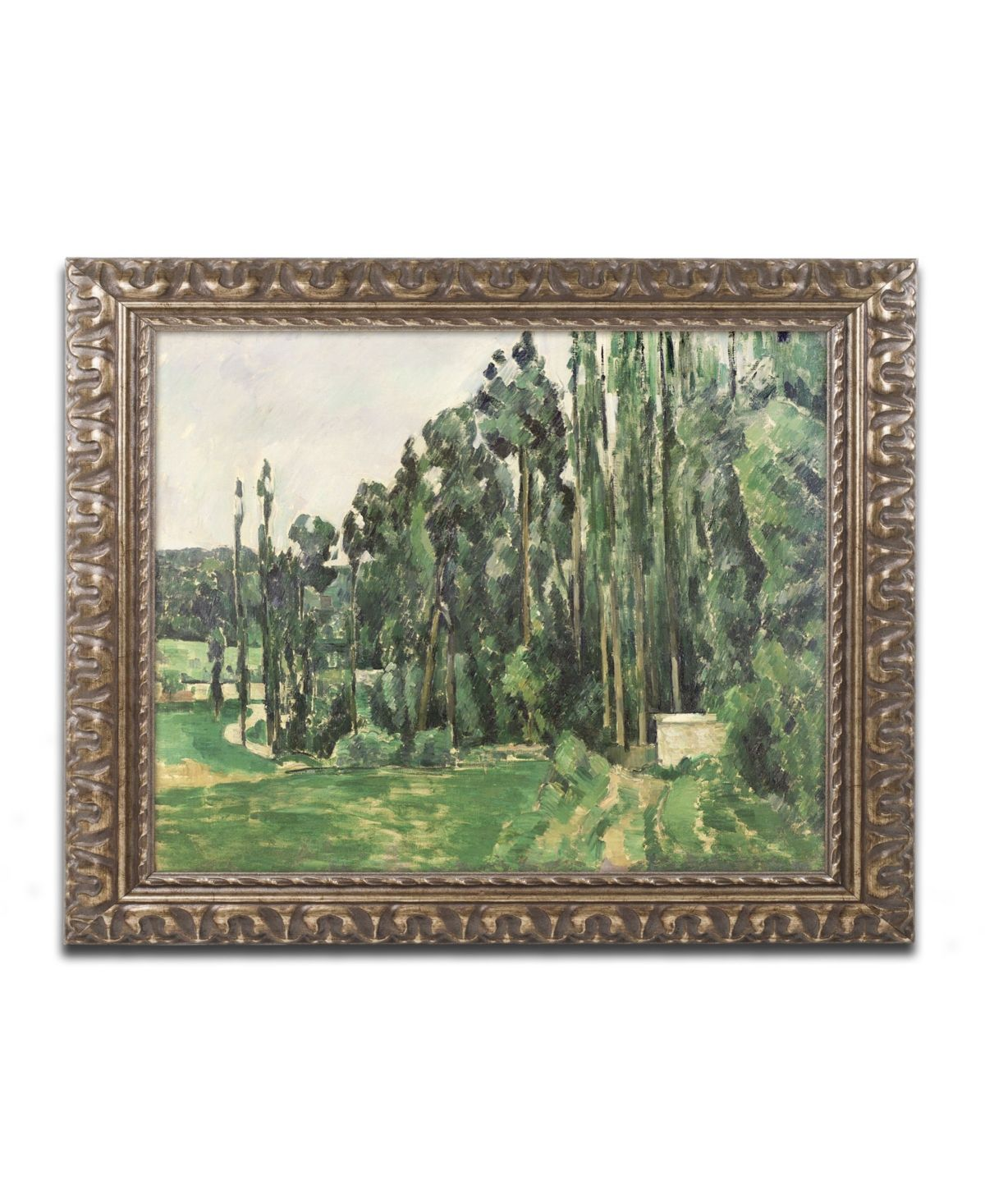 Paul Cezanne The Poplars 1879 Ornate Framed Art 11 X 14 Multi Ornate Frame Trademark Art Painting Frames