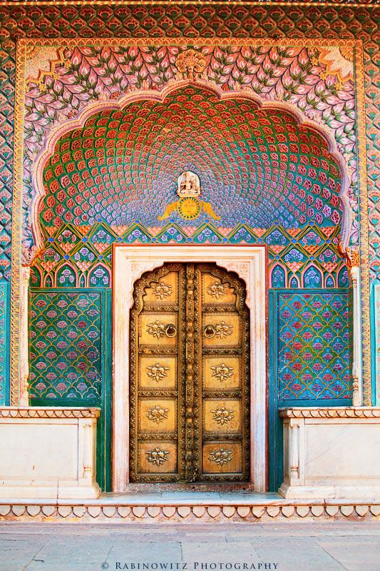 Architecture & Doors of India | Embossed brass door with beautiful surround at ... pezcame.com