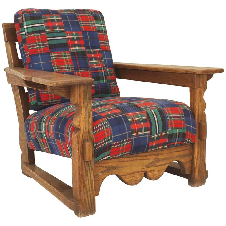 Good American Rustic Old Hickory Mission Large Oak Armchair