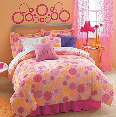 Polka Dot Swirl Comforter Jcpenney Bed Kids Bedding Girl Room