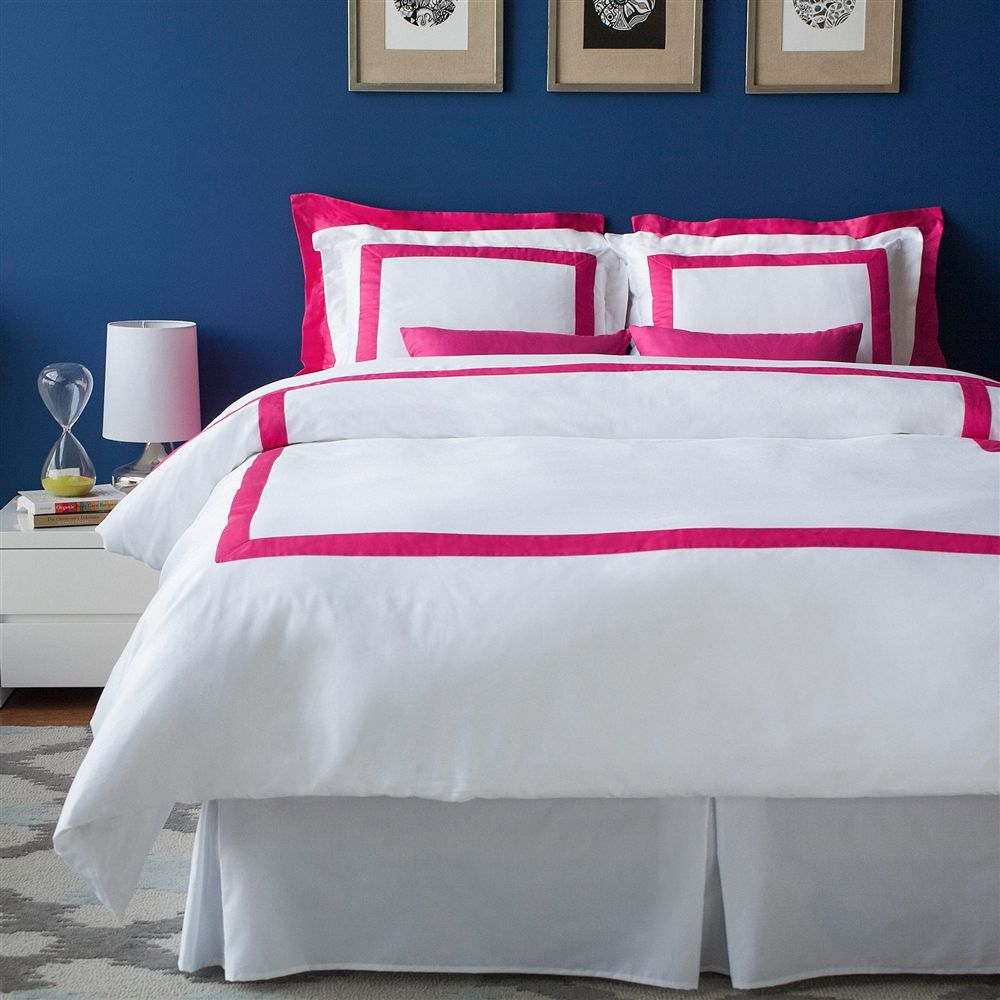 Lacozi Boutique Hotel Collection Hot Pink Duvet Cover Set With