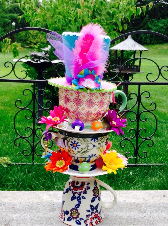 Alice in Wonderland Centerpiece, Mad Hatter Tea Party Decorations ...