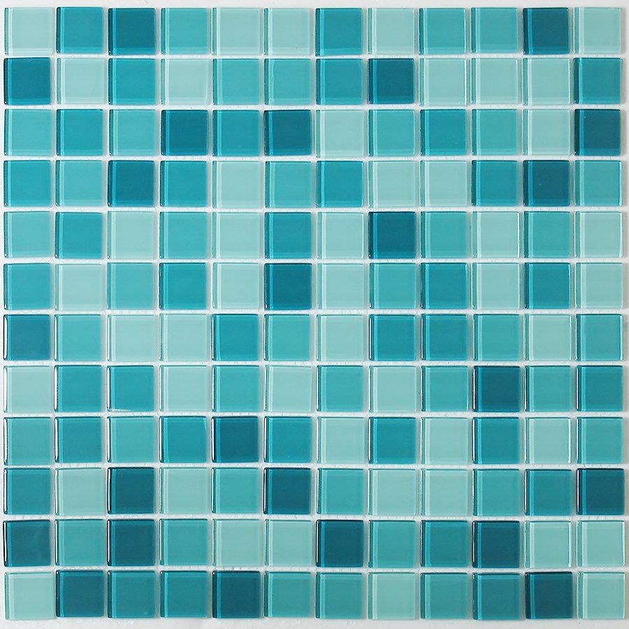 Teal for Two Glass Mosaic Tile M70002 by Nerino   For the Home ...