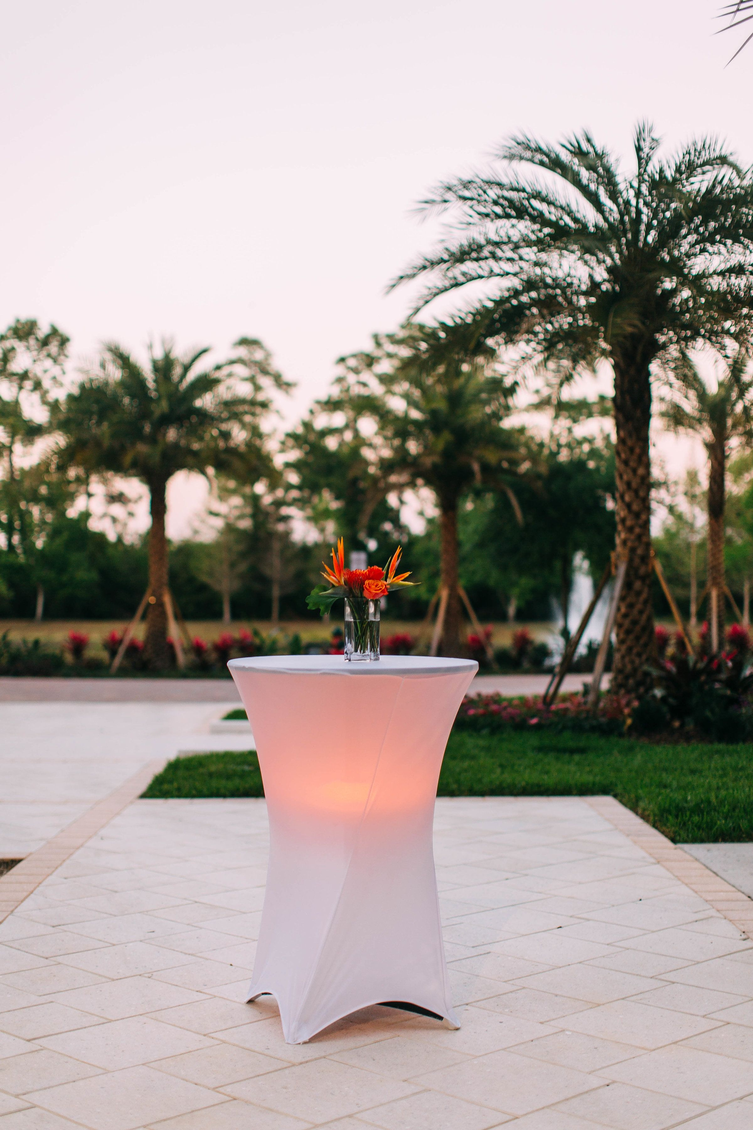 Led spandex cocktail tables cocktail tables orlando