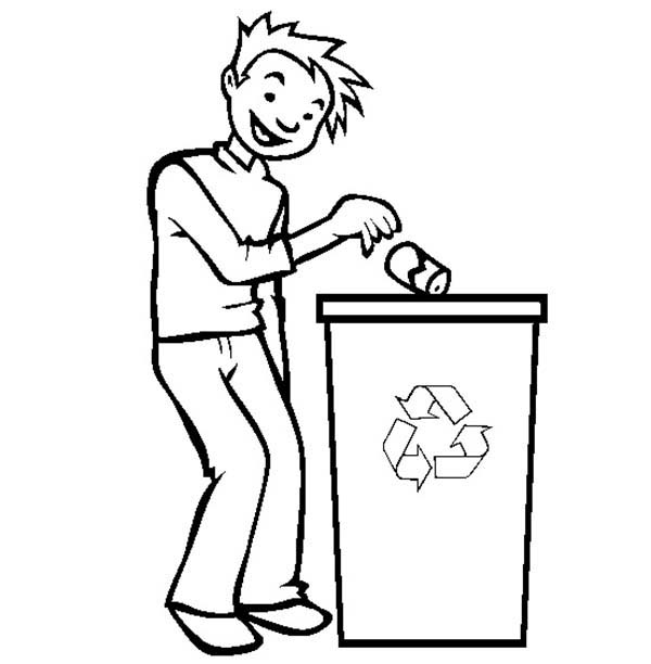 Throw Garbage In The Right Bucket Coloring Page Coloring Sky Coloring Pages Superhero Coloring Pages Coloring Pages For Kids