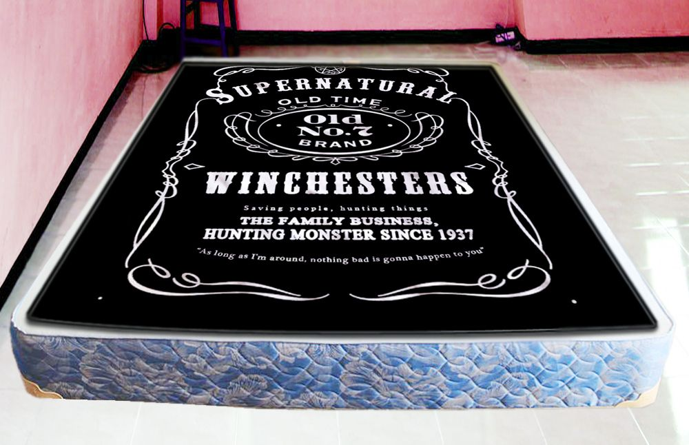 Supernatural Blanket Quilts Cover Art Gift Quilt Birthday Presents