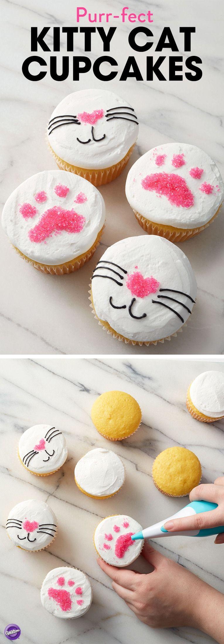 Sugar Writer Pur-fect Kitty Cat Cupcakes