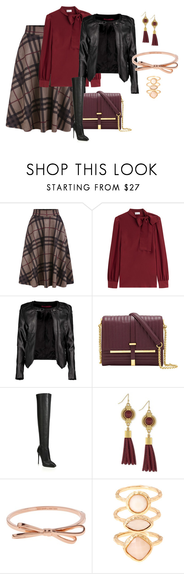 """""""checkered zip"""" by shoesclothesbagsaddict ❤ liked on Polyvore featuring RED Valentino, Boohoo, Vince Camuto, Giuseppe Zanotti, Kate Spade and Monsoon"""