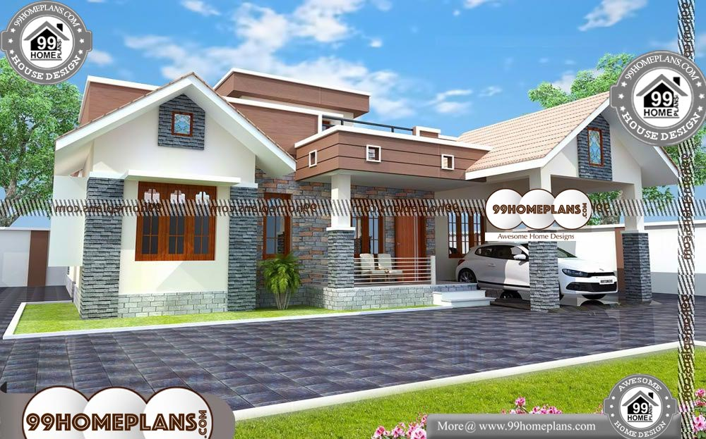 Simple 1 Story House Plans with Latest Double Storey Homes ...