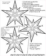 Kids Craft: Star in Star in Star in Star of Bethlehem
