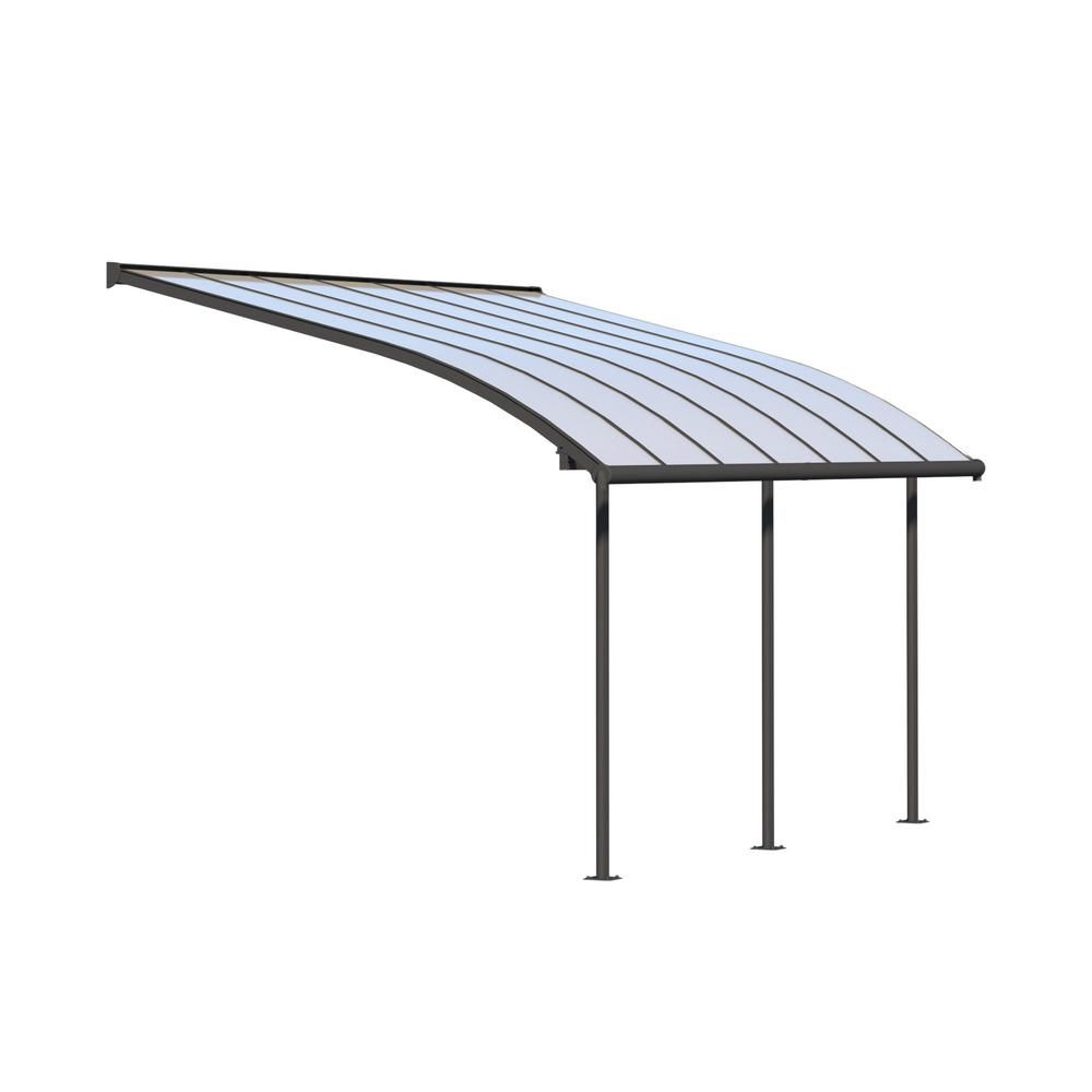 Palram Joya 10 Ft X 14 Ft Grey Patio Cover Awning 704453 The Home Depot In 2020 Covered Patio Grey Patio Diy Patio Furniture