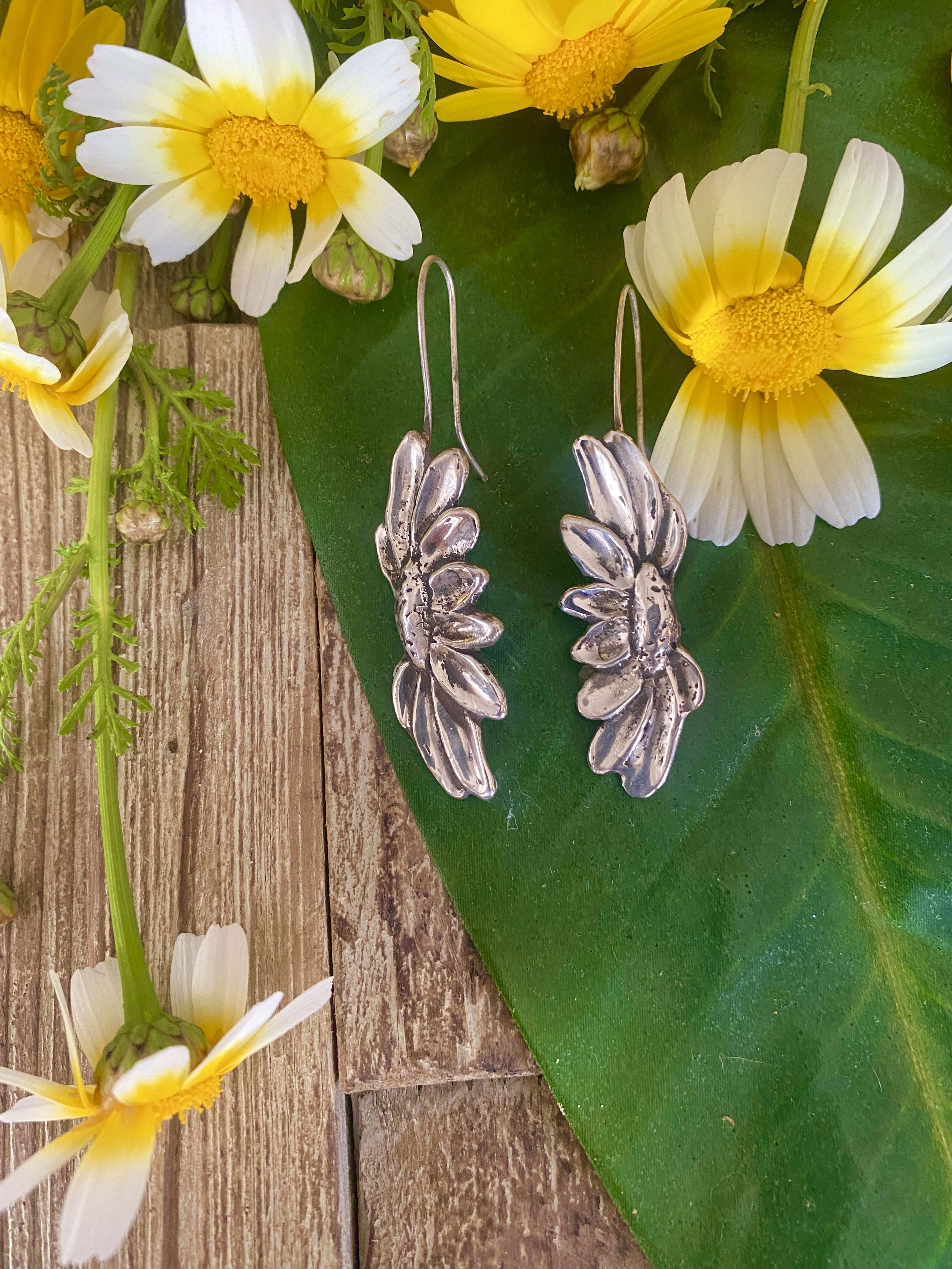 Summer Rome Holiday Style Fresh and Natural Enamel Wildflowers Earring
