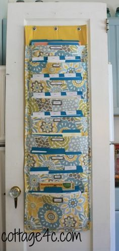 Hanging File Holder Tutorial Sewing Projects Hanging File