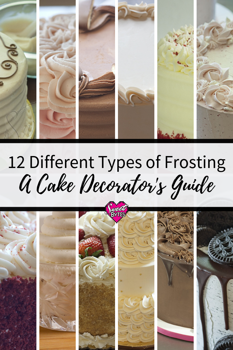 If You Like To Decorate Cakes This Is A Great Guide For 12 Different Types Of Frosting With Links To Recip Types Of Frosting Cake Frosting Recipe Butter Cream