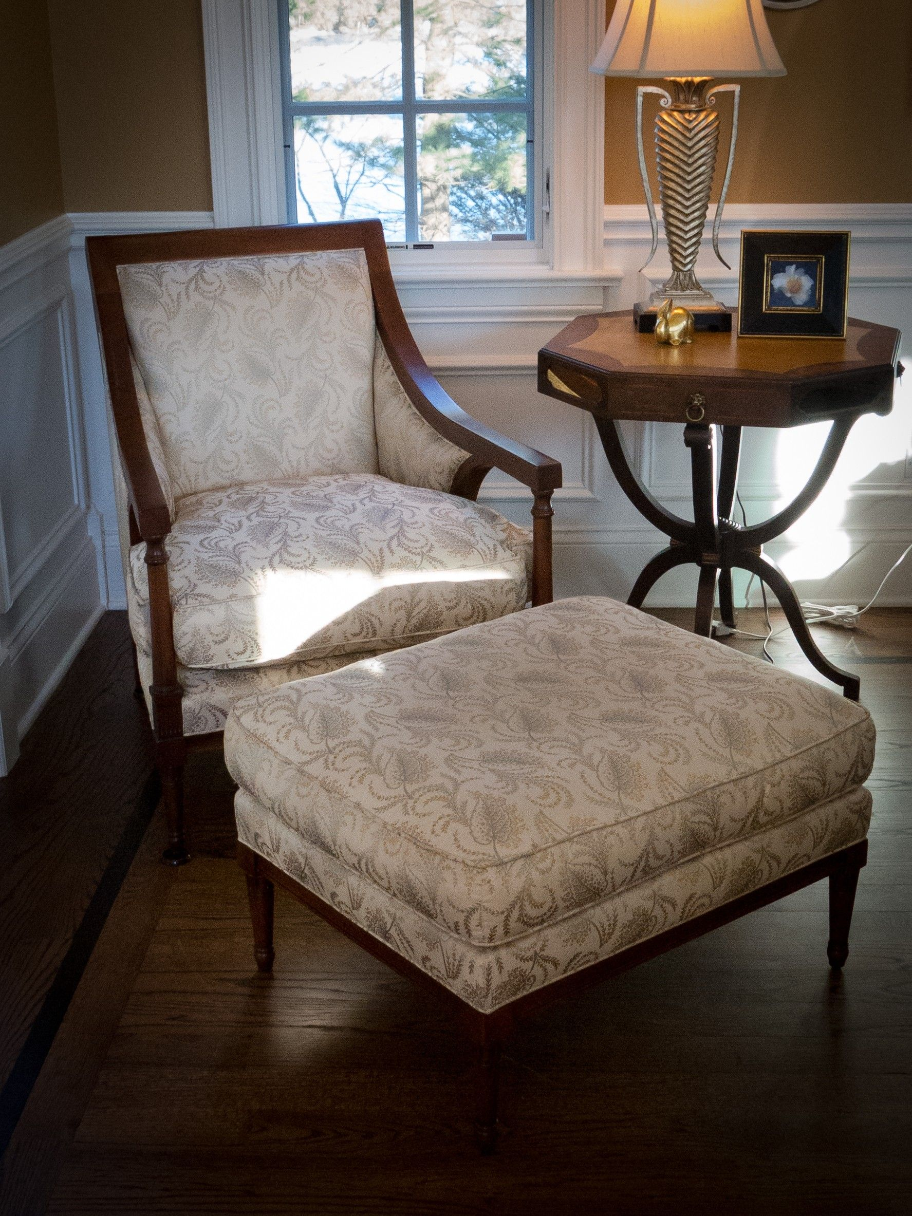 Baker Chair and Ottoman $450 - Wilmette http://furnishly.com/catalog ...