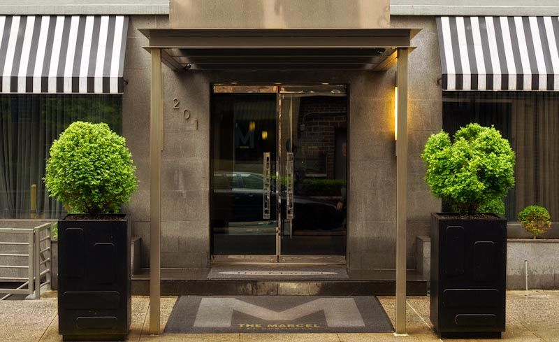 The Marcel At Gramercy Love Hotel Door Architecture Lobby Design