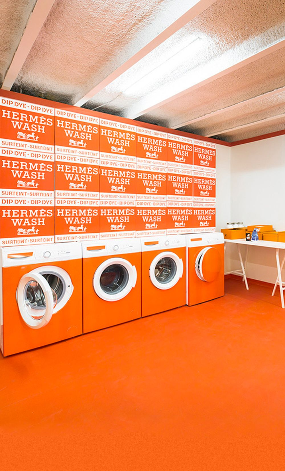 Hermesmatic A Dedicated Laundromat Pop Up By Hermes Bright