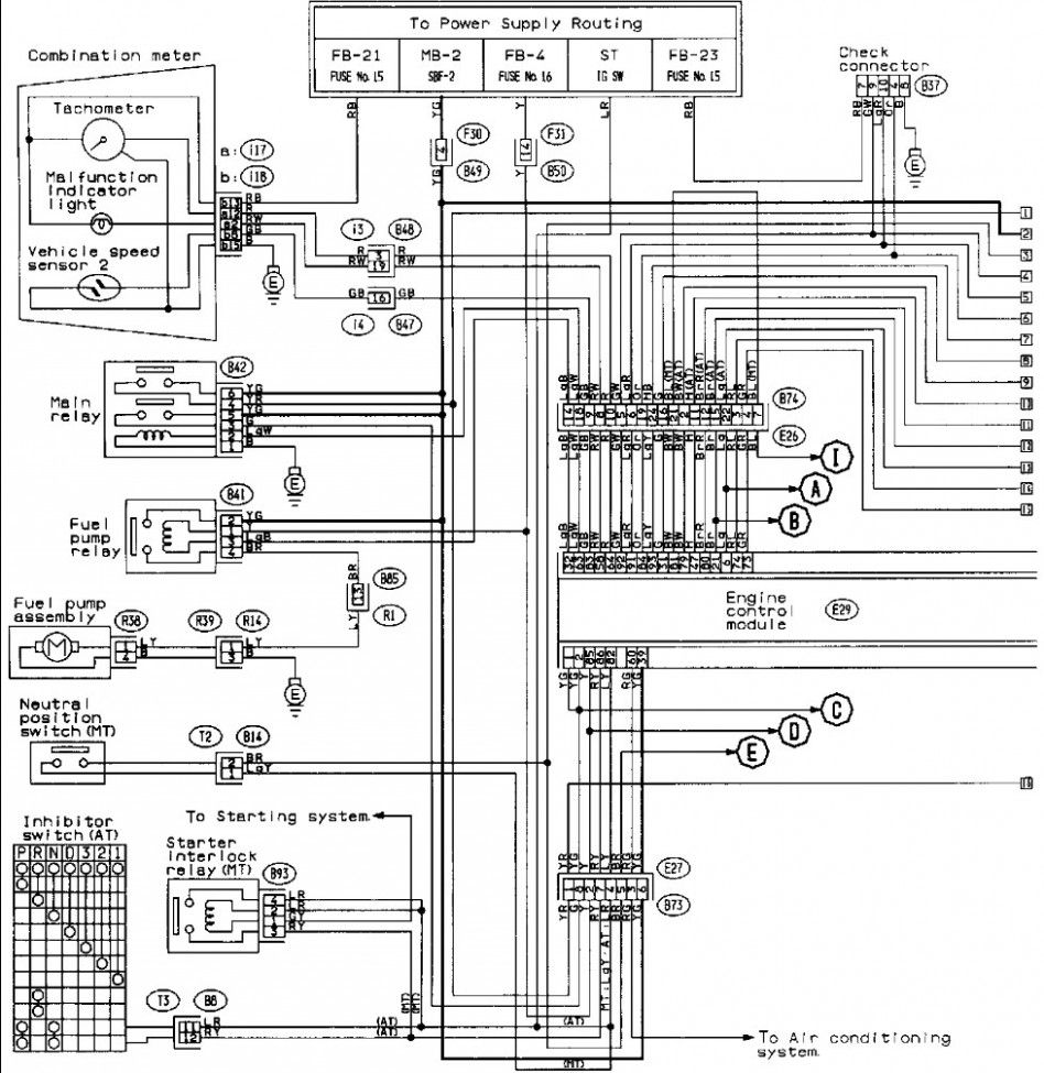 Subaru Impreza Engine Wiring Diagram