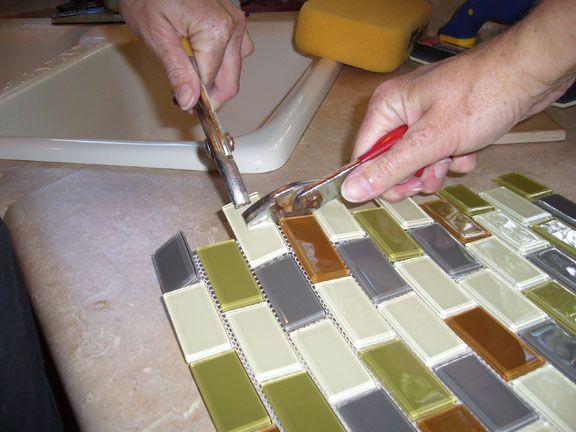 Glass Tile Kitchen Backsplash Glass Tile Backsplash Kitchen