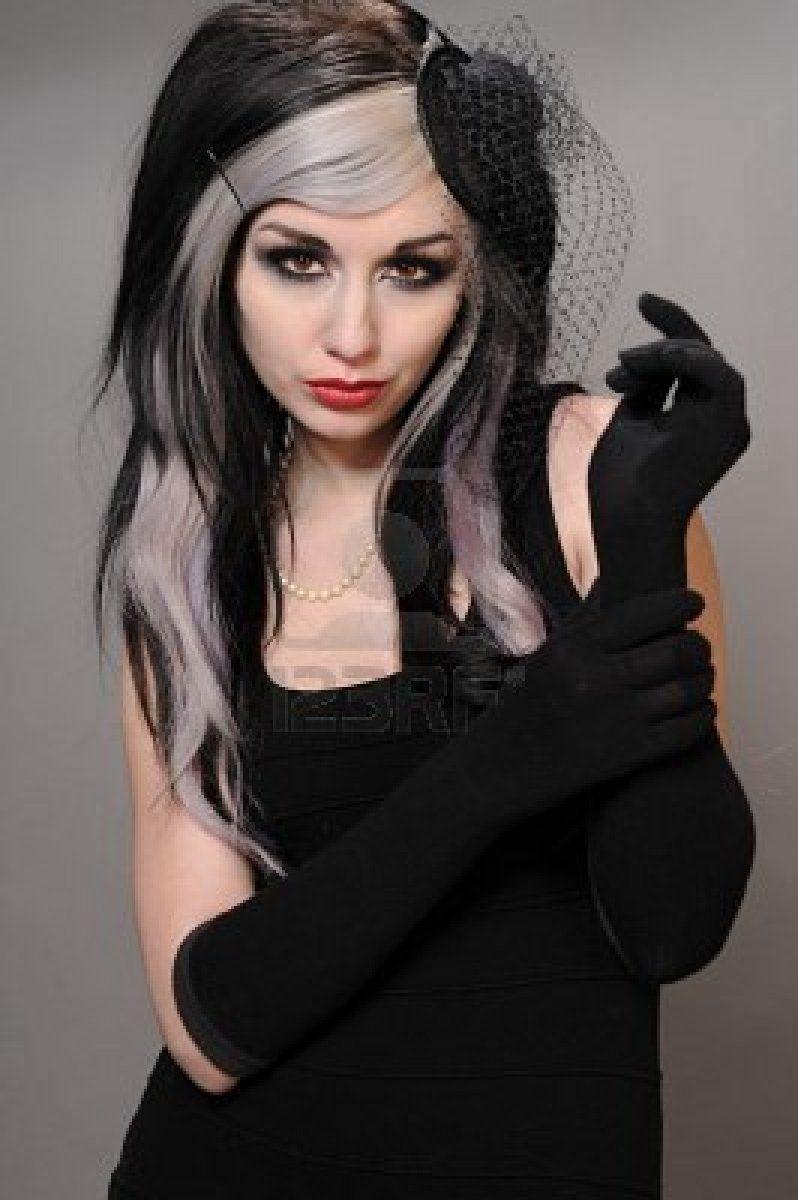 silver streaks | Dark Beauty: Hair & Makeup | Pinterest
