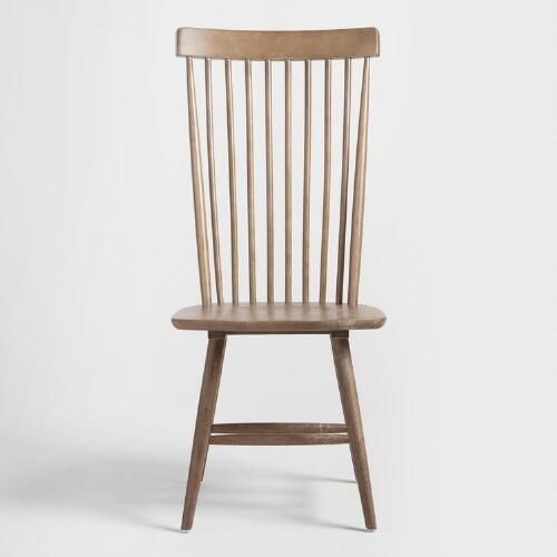 Gray Wood Kamron High Back Windsor Chairs Set Of 2 V2