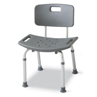 Medline Bath Safety Chair With Back Gray In 2019 Bath Bench