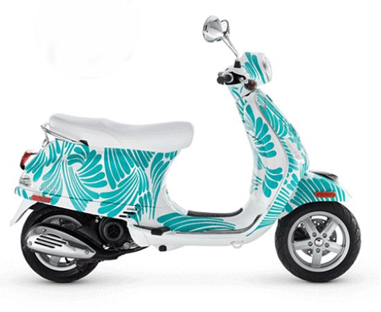 aqua vespa | Ride Colorfully with Pinterest and Kate Spade Vespa-- I want that!!