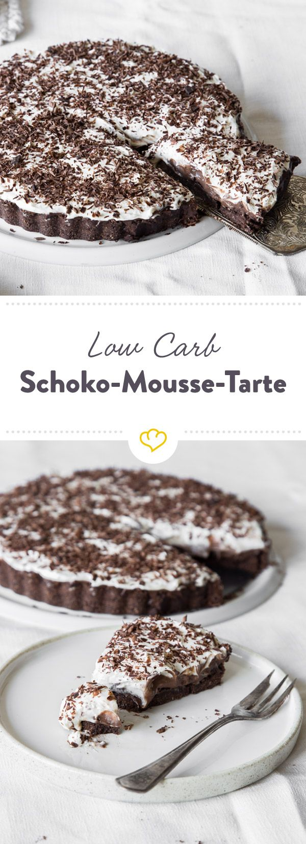 Photo of Low carb chocolate mousse tart without baking