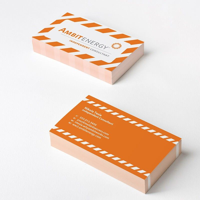 Ambit energy stripe business cards business cards and business ambit energy stripe business cards be unforgettable with ambit energy wajeb
