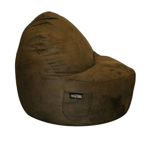 Brilliant Sitsational Single Seater Chocolate Suede By American Short Links Chair Design For Home Short Linksinfo
