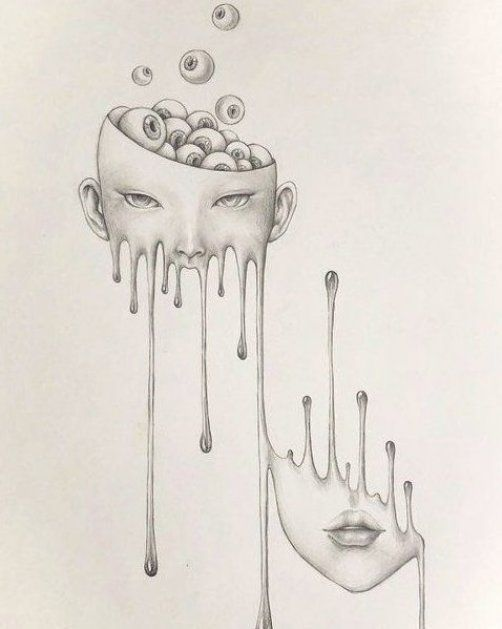 limit autographed print  melting Girl with eyeball  surreal pencil drawing  horror Wall Decor  dark art  popsurrealism dark fantasy pop -  Limited Print One of a kind drawing  completed in 2019  Wall Art Wall Decor Art Poster drawing prin - #art #autographed #dark #decor #drawing #DrawingTips #drawings #eyeball #fantasy #girl #horror #Illustrations #limit #melting #pencil #pop #popsurrealism #print #surreal #Wall
