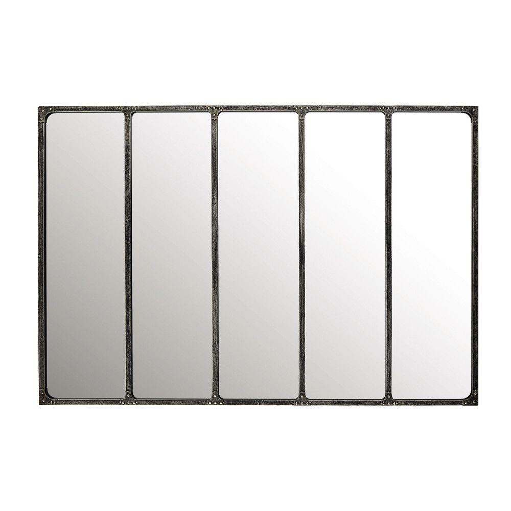 miroir indus en m tal 180x124 miroirs maison du monde. Black Bedroom Furniture Sets. Home Design Ideas