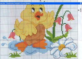 Tina's handicraft : cross stitch embroidery for baby blanket