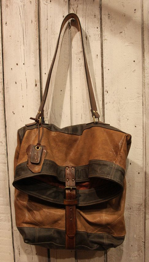c5a04764d7 Handmade Italian Vintage Leather Tote Messanger Bag