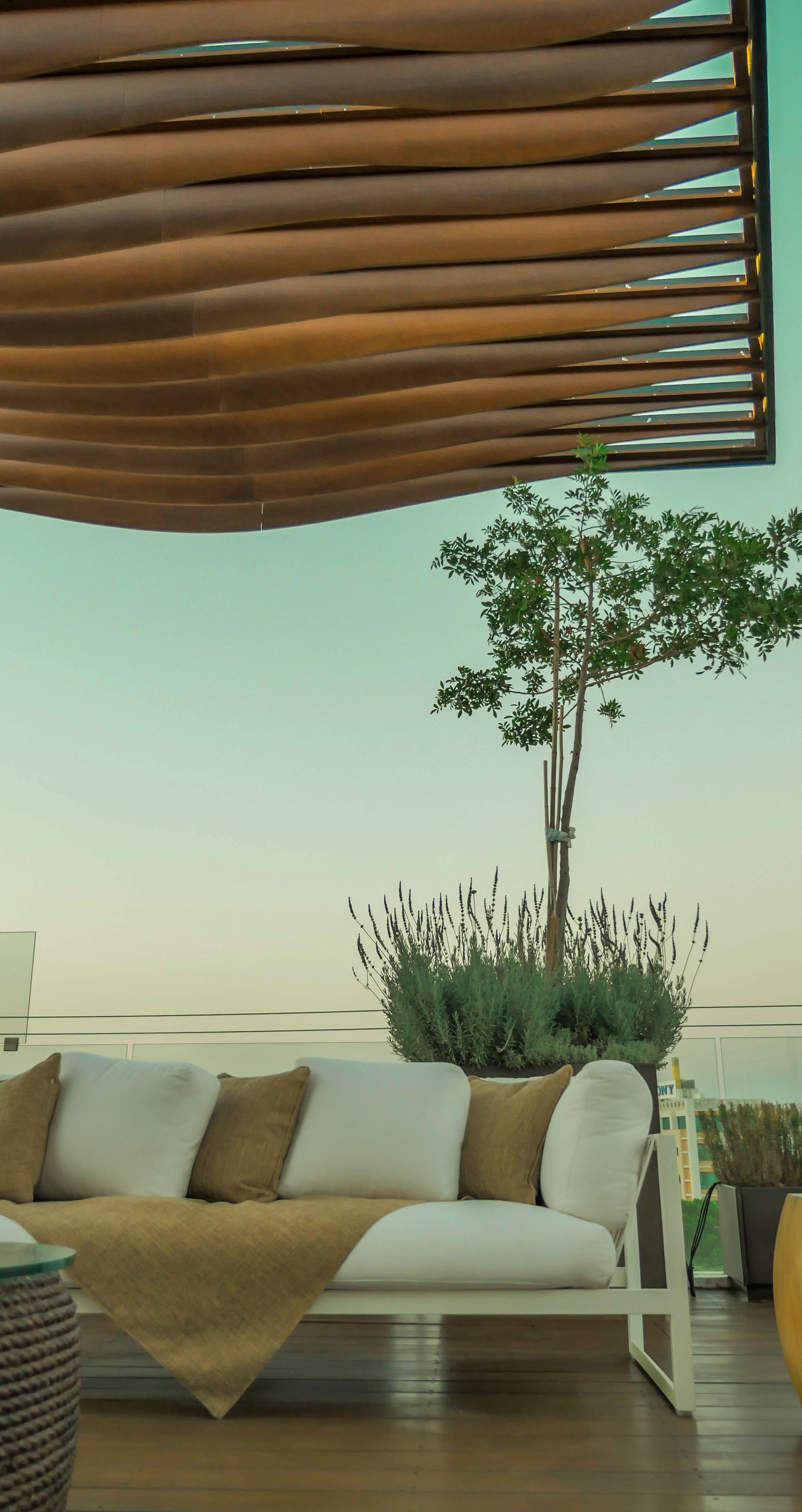 Minimal Pergola By Ekky Studio Architects Nicosia Cyprus Roof Garden Design Outdoor Design Outdoor Decor
