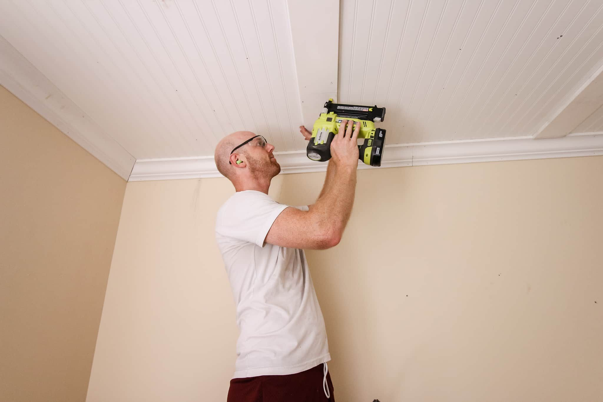 DIY Coffered Ceiling Popcorn ceiling makeover, Ceiling