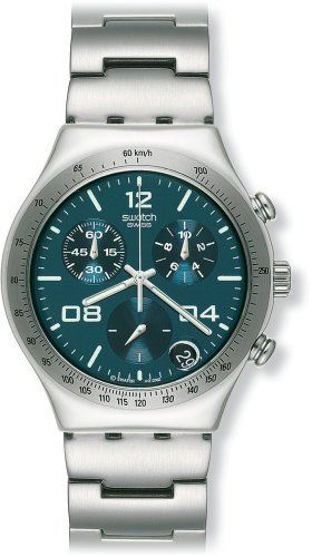 c2f01b567b0 Swatch Men s YCS438G Blustery Chronograph Watch Swatch.  150.00. Plastic  crystal. Precise Swiss-Quartz movement. Water-resistant to 99 feet (30 M).