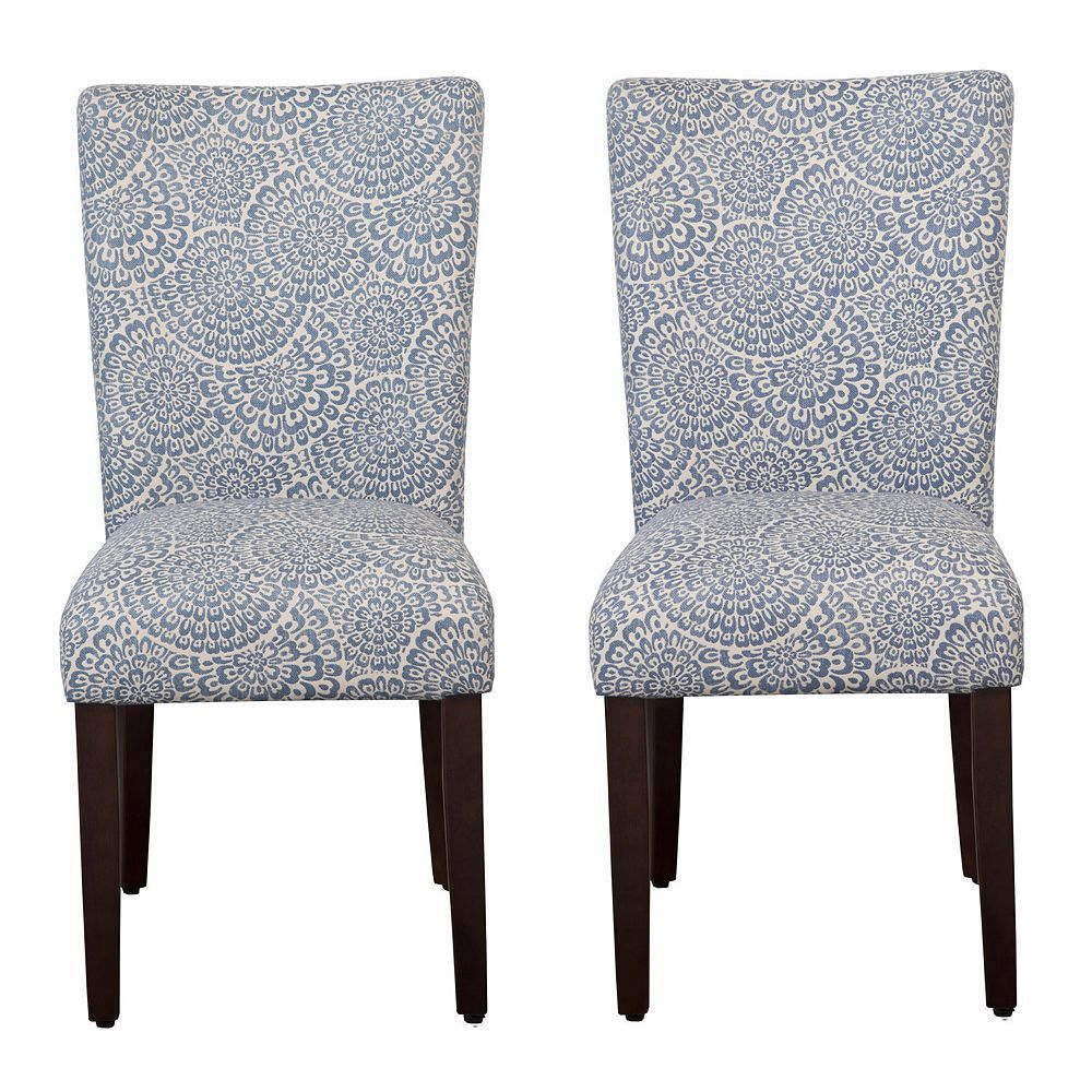 Homepop Parson Dining Chair 2 Piece Set Blue Navy