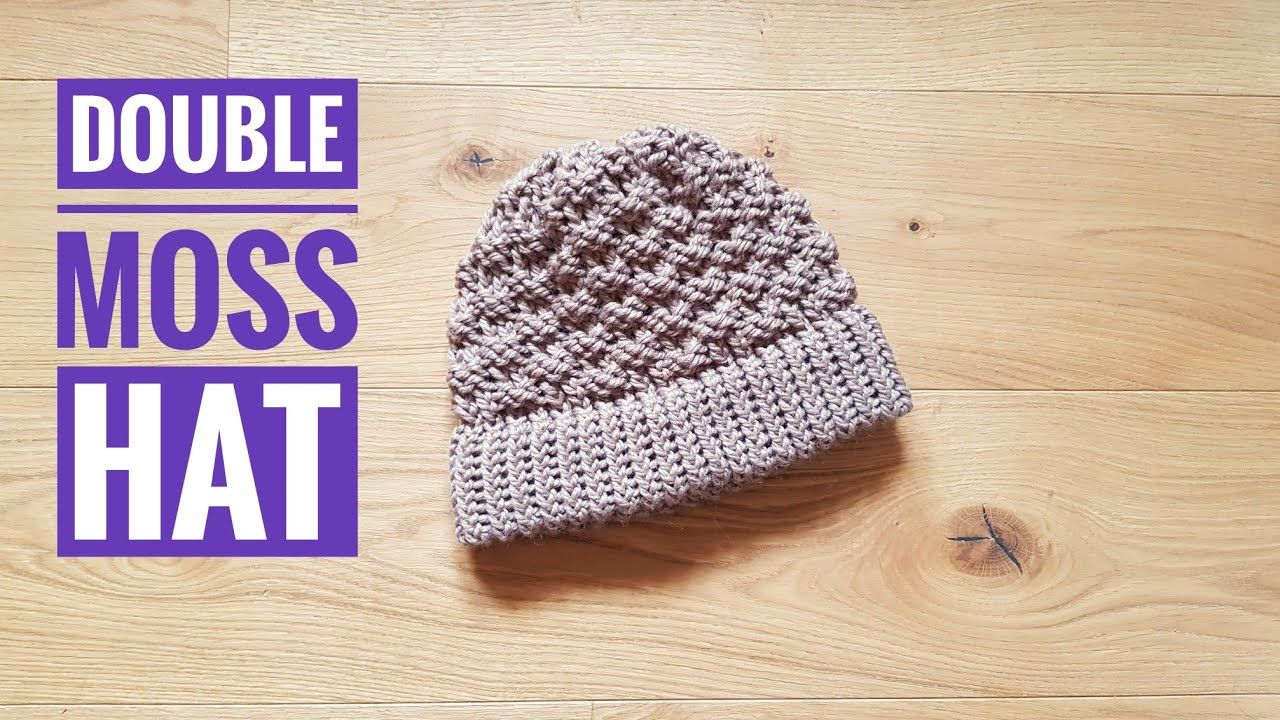 How to Loom Knit a Double Moss Stitch Hat (DIY Tutorial ...