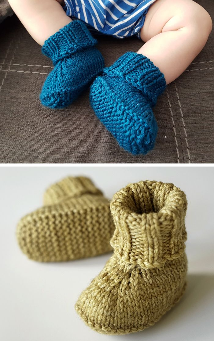Free Knitting Pattern for Seamless Baby Slippers #flowerpatterndesign
