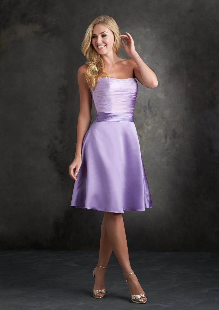 US$128.99 Wholesale 2015 A-line Lilac Bridesmaid Dress colour Allure ...