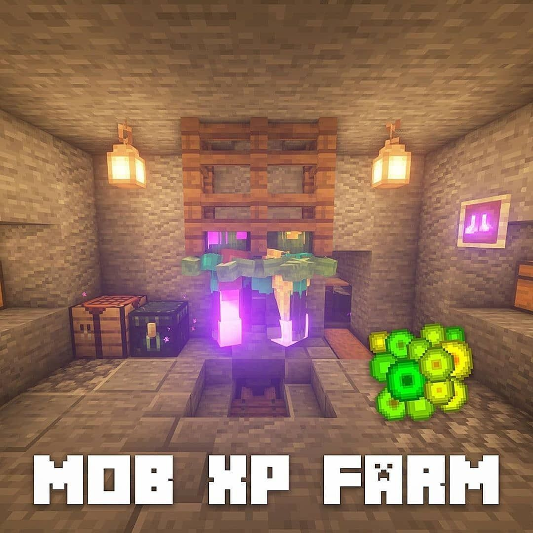 63 Likes 1 Comments Minecraft Guide Mcraftguide On Instagram Mob Xp Farm Which Is Your Favourite Sp In 2020 Minecraft Blueprints Minecraft Minecraft Plans