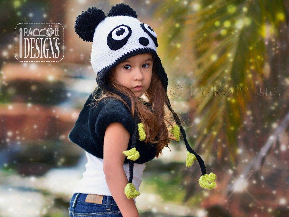 Amanda The Rock N Roll Panda Hat Pdf Crochet Pattern Crochet