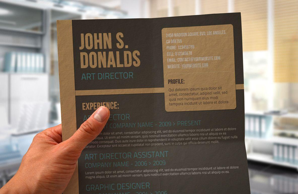 Craft paper cv design cv design resume design creative