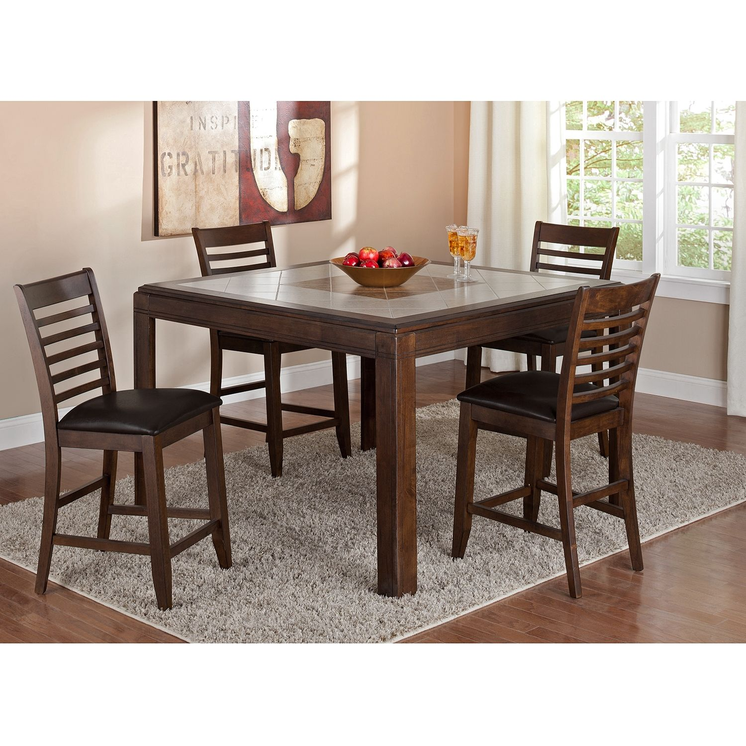 Deer Creek Ii Counter Height Table Dining Room Table Centerpieces Furniture Value City Furniture