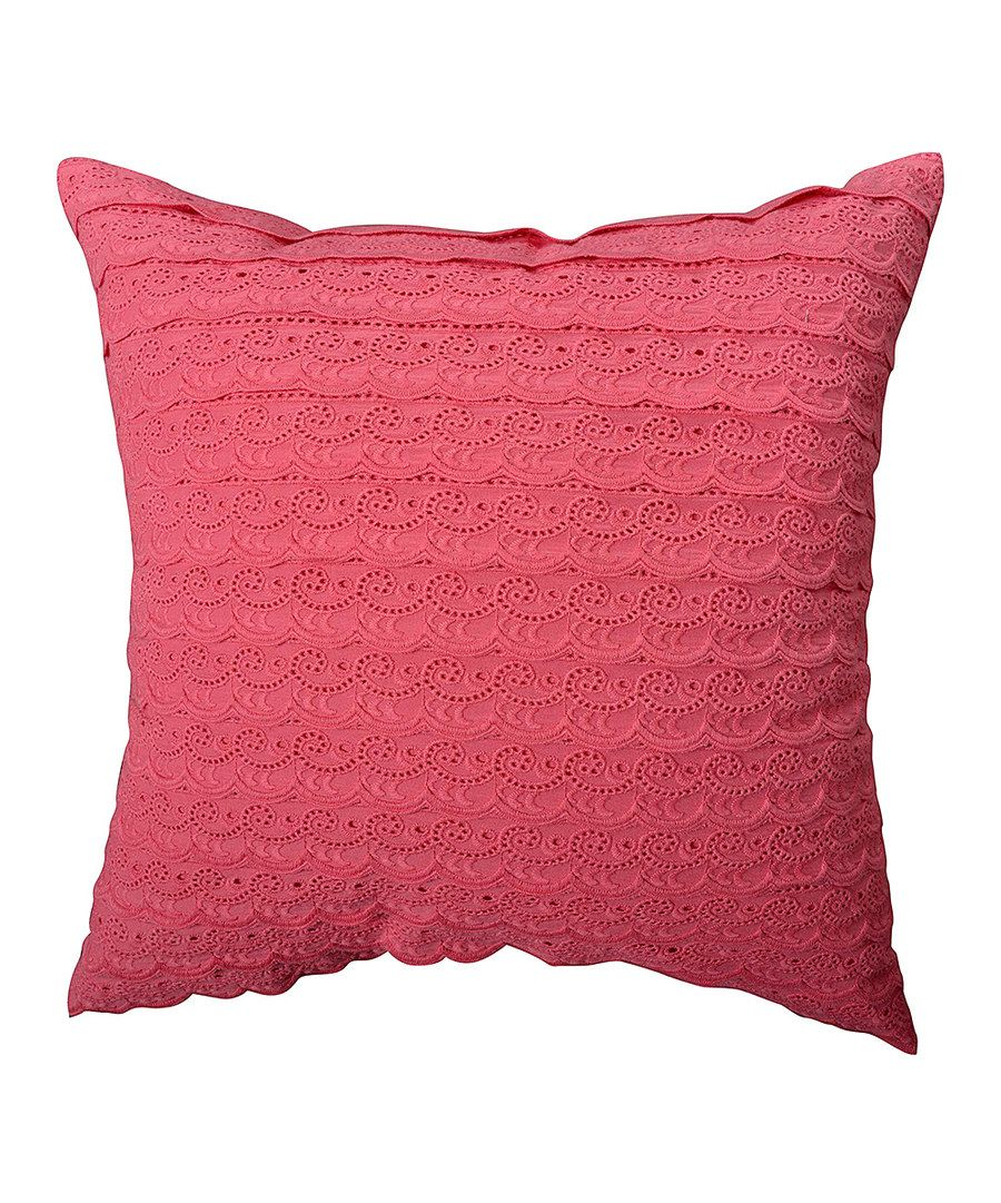 Look at this Coral Ariana Medium Square Throw Pillow on #zulily today!